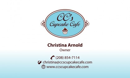 Business Card Design: CC's Cupcake Cafe