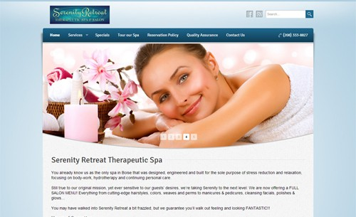 Website Makeover: Serenity Retreat Therapeutic Spa & Salon