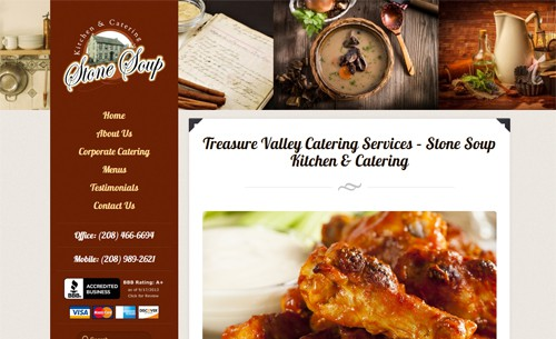 Website Makeover: Stone Soup Kitchen and Catering