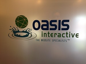 Oasis Interactive Window Signage