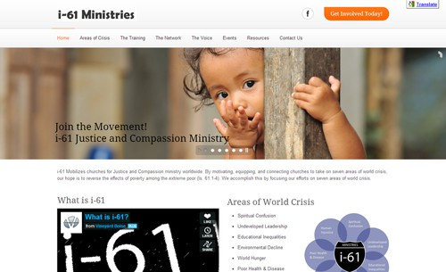 Website Makeover: i-61 Ministries