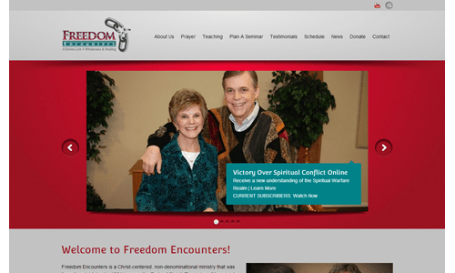 Website Makeover: Freedom Encounters