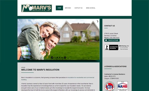 Website Makeover: Marv's Insulation