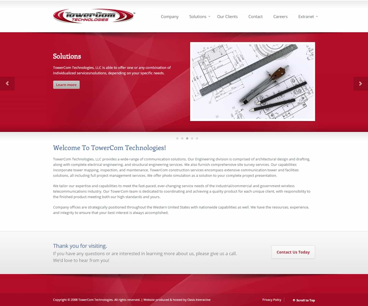 Good Website Redesign TowerCom Technologies Oasis Interactive Learn Web Design  From Home50 TopDrawer Websites To Learn Web Part 31