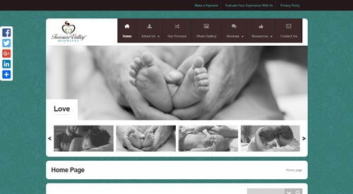 Website Design-Treasure Valley Midwives-Home