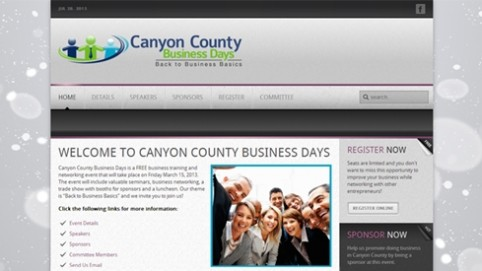 Website Makeover-Canyon County Business Days-Home