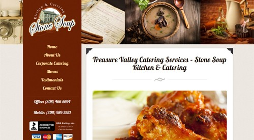 Website Makeover-Stone Soup Catering-Home